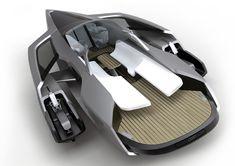 El Audi Trimaran, creado por estudiantes como un proyecto para el Audi Studio Design en Munich.