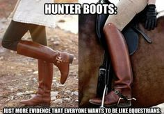 Hunter boot: just more evidence that everyone wants to be like equestrians.