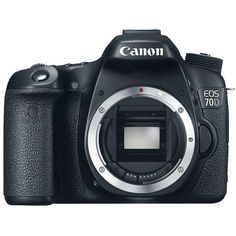 Canon EOS 70D Digital SLR Camera Body Black (8469B002) ❤ liked on Polyvore featuring eos