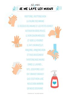 Le lavage des mains French Poems, Finger Plays, Monologues, Teacher Hacks, Learn French, Pre School, Teaching Kids, Maine, Poster