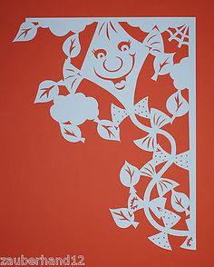 Fensterbild XXL,filigran,Herbstdrachen,Fensterecke,Tonkarton,filigranes,Herbst…