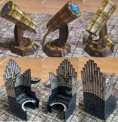 Dungeon Furniture - Pipe Organ & Telescope Papercraft | Papercraft Paradise | PaperCrafts | Paper Models | Card Models