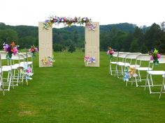 Pinwheel themed aisle-This is our wedding!!