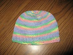 Free Knook Hat Crown Down pattern