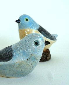 pottery lovebirds