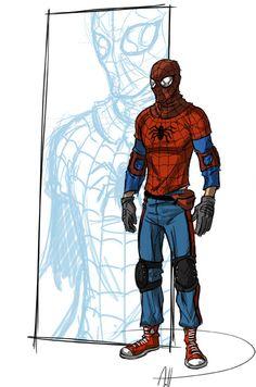 More real Spider-Man redesign by deralbi.deviantart.com on @deviantART