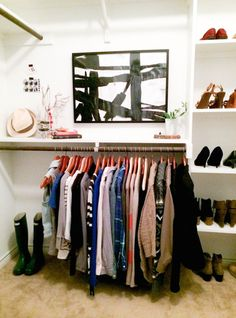 "Cutting down a cluttered closet! How to create a ""wardrobe capsule"" and mix and match a few clothes you have to create many outfits. I may need to clean out the closet again!"