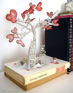 The Tree of Love Valentines day Book Art by MalenaValcarcel