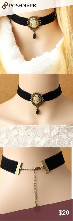 choker necklace  vintage  & pendant Handmade choker necklace for women vintage necklace & pendant false collar Gothic, jewelry statement necklace. Jewelry Necklaces