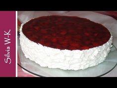 Erdbeerkuchen - einfaches und leichtes Rezept / Strawberrycake - YouTube