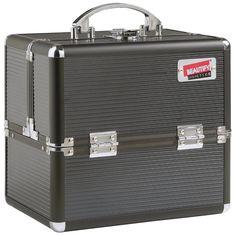 "AmazonSmile : Beautify Professional Aluminium 10"" Beauty Cosmetics & Makeup Train Case (Black) : Beauty"