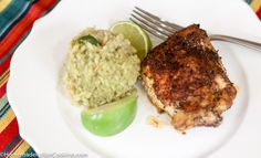 Roasted Chicken Thighs with Cumin Chipotle Crust and Tomatillo Rice is a delicious and fast Mexican-style dinner. The chicken thighs are coated with a smoky-spicy salt rub and roasted in the oven. They come out juicy and with a delicious crispy crust of flavor. The rice accompaniment uses a green tomatillo sauce for the liquid...Read More »