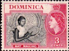 Dominica 1954 Queen Elizabeth II SG 144 Fine Used Scott 157 Other Dominica Stamps HERE
