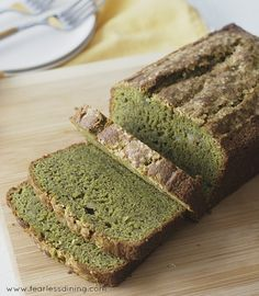 This flavorful gluten free, dairy free matcha green tea banana bread is a delicious loaf to enjoy for breakfast. Quick and easy to make.