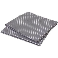 Bacati - MixNMatch Pin Dots Crib/Toddler Bed Sheets 100% Cotton Percale, Grey, 2-Pack, Gray