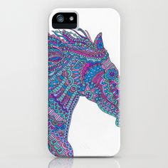 Technicolor Horse iPhone & iPod Case by Flammejumelle - $35.00