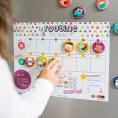 My Daily Routine motivational kit – Routine chart for children – Magnets – Dry-erase magnetic board – Minimo playful motivation - Kids Snacks Classroom Schedule Cards, Daily Schedule Cards, Daily Routine Chart, Toddler Routine Chart, Morning Routine Chart, Classroom Rewards, Classroom Training, Chore Magnets, Learn To Tell Time