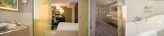 Sowohl die bodengleiche Dusche als auch die Badewanne bieten Möglichkeiten, die Seele baumeln zu lassen. Für perfekte Auszeitmomente kann die Lieblingsserie ganz entspannt von der Badewanne aus verfolgt werden, denn der Spiegel verfügt über einen integrierten Fernseher.    Foto: Simone Ahlers für JOI-Design    #WOHNIDEE #WOHNIDEESuiten #designedbyus #InteriorDesign