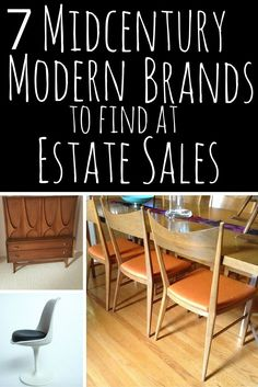MCM: Great article, 7 Midcentury Modern Brands at Estate Sales, with great photos and background on key designers.