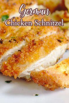 Breaded Chicken Recipes, Best Chicken Recipes, Turkey Recipes, Chicken Shnitzel, Stuffed Chicken, Chicken Snitzel Recipe, Kitchen Recipes, Cooking Recipes, Cooking Ideas