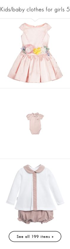"""""""Kids/baby clothes for girls 5"""" by julieselmer ❤ liked on Polyvore featuring baby, baby girl, baby clothes, kids, infant girls, kids clothes, outerwear, jackets, fur trim jacket and cream jacket"""