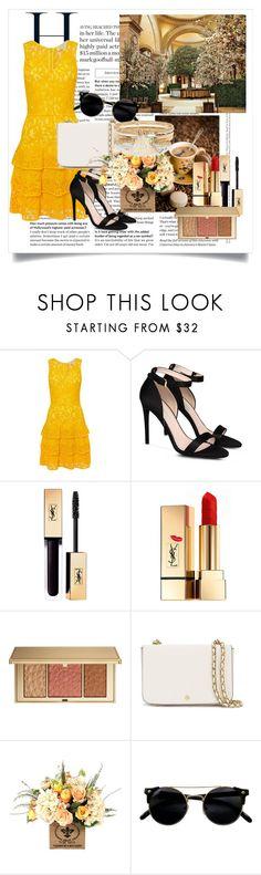 """Yellow Dress√"" by azler ❤ liked on Polyvore featuring beauty, GALA, Michael Kors, STELLA McCARTNEY, Yves Saint Laurent, Estée Lauder, Tory Burch and River Island"
