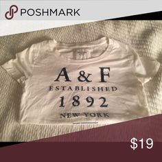 Abercrombie & Fitch Shirt Abercrombie & Fitch shirt, perfect condition. Sized medium. **make offers, everything needs to go, bundling encouraged** Abercrombie & Fitch Tops