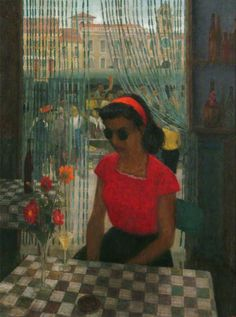 Italian Station Café by Robert Sawyers c.1952 (Brighton and Hove Museums & Art Galleries)