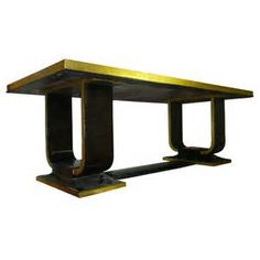 Rare 1925 Art Deco Dining Table in Black Lacquer and Gold Leaf For ...