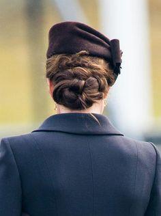 Kate Middleton's twisty updo