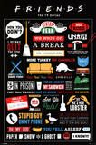 Friends Infographic Pôsters