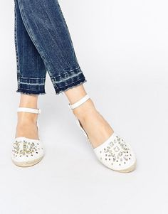 Pin for Later: 23 Commute-Friendly Shoes to Wear to Work in the Summer  ASOS Embellished Espadrilles ($30)
