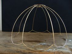 Guest bed light - Scalloped Gold Metal Wire Lamp Shade/ Pendent by LayeredLiving, $20.00