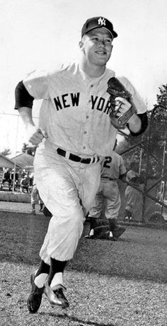 Young Mickey Mantle at spring training, 1954. AP photo.