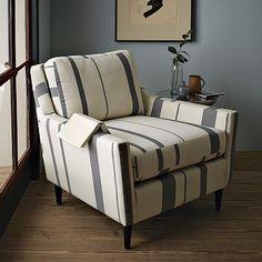 I love the Everett Striped Chair on westelm.com