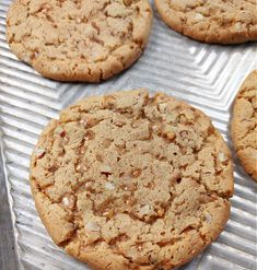 South Your Mouth: Butterscotch Crunch Cookies Toffee Cookies, Chewy Sugar Cookies, Coconut Cookies, Coconut Macaroons, Chip Cookies, Cookies Et Biscuits, Oatmeal Cookie Recipes, Holiday Cookie Recipes, Holiday Baking