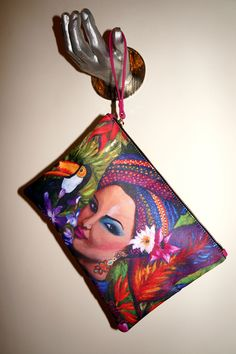 Exotic Woman Clutch Bag - GreyFall Outlet