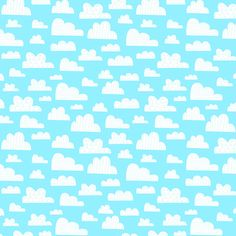 "Kiddie Fabric with Clouds on Blue Sky Background, ""On The Go"" by Arrolyn Weiderhold for Wilmington, 100% Cotton, Great for Quilting, Sewing! by StashTraders on Etsy"