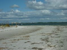 sanibel beach with fort myers in distance
