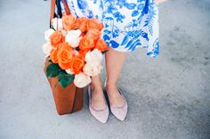 Poor Little It Girl - Blue Floral Dress - @poorlilitgirl