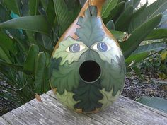 A Green Man gourd birdhouse like this wouldn't be difficult to make (you can even buy gourds at home improvement or craft stores) but this lovely one is available on Etsy.