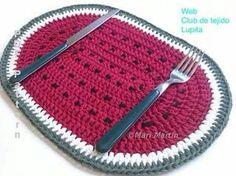Mantelito Individual   en Crochet.
