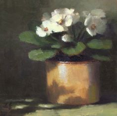 Daily Paintworks - Linda Jacobus - dainty violets