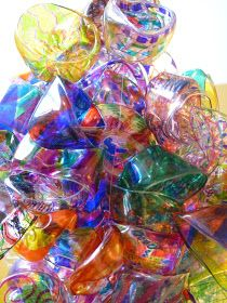 The Calvert Canvas: Adventures in Middle School Art!: Chihuly Inspired Chandelier