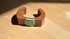 Sophie Monet Turquoise Wood Cuff Bracelet