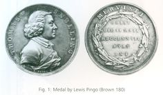 Snellling, Thomas (1712-1773), coin dealer and bookseller in London; medal by Lewis Pingo (NZ 2015, Thompson, p. 491)