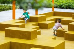 Tetris Square par Lab D + H «Plateforme d'architecture paysagère Landscape Architecture Drawing, City Landscape, School Architecture, Sustainable Architecture, Landscape Design, Landscape Rake, Modern Architecture, Landscape Structure, Ancient Architecture