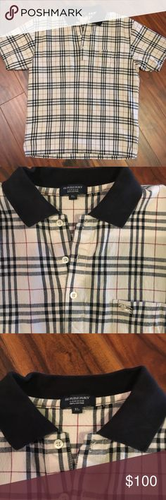 Burberry men's polo Burberry men's polo, been washed and preshrunk. It's a very sexy shirt! This shirt runs small, size xl but fits more like a medium Burberry Shirts Polos