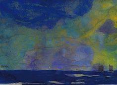 bofransson:  Emil Nolde (1867-1956) Blaue Meerlandschaft (zwei Segler)