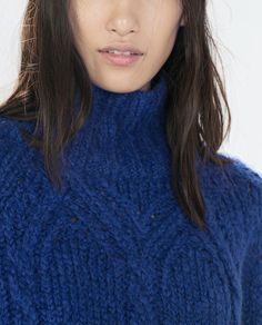 ZARA - WOMAN - TURTLE NECK CABLE KNIT SWEATER